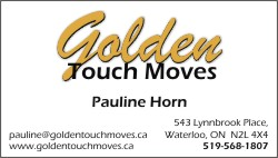 Golden touch moves business cards